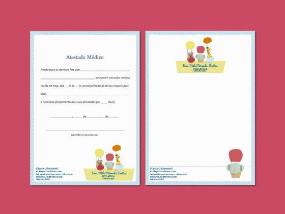 papelaria personalizada para pediatras