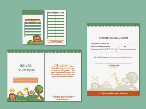 papelaria pediatra - identidade visual - pediatras